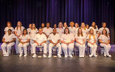 The Class of 2014 at their graduation from RCC's practical nursing program.