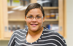 RCC student Alexis Lassiter recently participated in an eight-week summer internship at VCU.