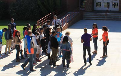 RCC students took a tour of the VSU campus.