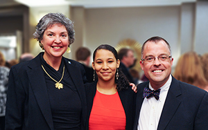 RCC student Kendra Yates was honored for receiving the Commonwealth Legacy Scholarship at a luncheon in Richmond on November 18. Left to right: RCC's president, Dr. Elizabeth Crowther; Yates; and RCC's interim dean of student development, Dr. David Keel.