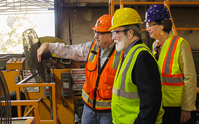 RCC's College Board toured the Potomac Supply facility in Westmoreland County.