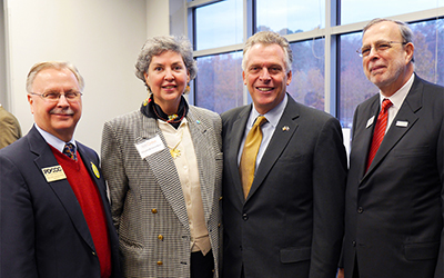 "Governor Terry McAuliffe announced that RCC and several other community colleges will partner with WHRO Public Media to offer the new workforce development initiative ""SkillsOnline."""