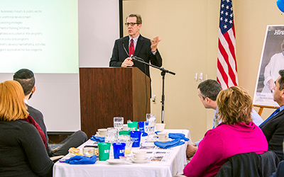 "Mike Jenkins addressed an ""appreciation breakfast"" hosted by RCC-Workforce on February 3."