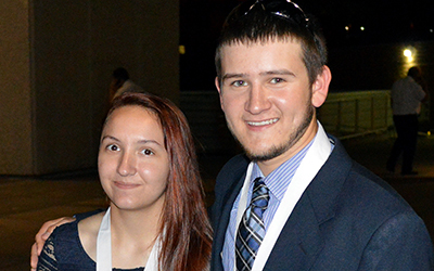Two students of the Bridging Communities Regional Career and Technical Center in New Kent County, Sara Jo Buchanan and Chase Williams, won gold medals in the recent SkillsUSA state championships.