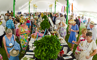 At RCC's Preakness Party on May 16, attendees looked over many interesting and beautiful items in anticipation of the silent and live auctions.