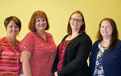 RCC is proud to have four Certified Nurse Educators. Left to right: assistant professor Cheryl Riley; Ellen Koehler, the head of RCC's nursing programs; associate professor Carrie Lewis; and associate professor Sara Headley.