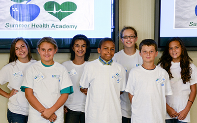 A group of middle school students from several counties in RCC's service area attended a Summer Health Academy at the Kilmarnock Center
