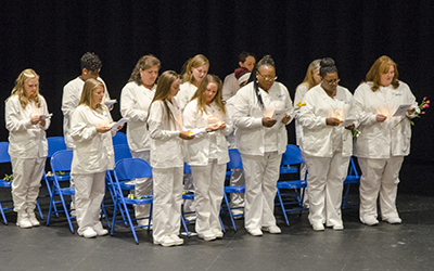 RCC Practical Nursing students reciting the Nursing Pledge