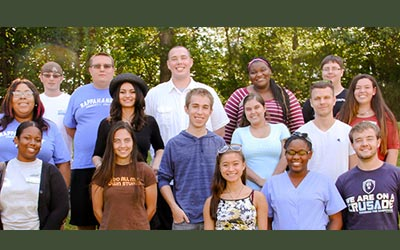 RCC's team of student ambassadors. First row: Jazmin Shipp, Raven Beverly, Grete Brummett, Jade Duong, Davina Peters, and Paul Fuit. Second row: Taryn Burrell, Mary Skinner, Ethan Harrison, Canvas Foxwell, Justin Todd, and Raven Beverly. Third row: Tim Mathis, Kenneth Armstead, Matt Webb, Shanequa Holden, and Chris Sheppard. Not pictured: Jacinta Ball, Alonya Bates, Andrea Davis, Tikoya Henderson, and Grayson Hughes.