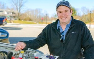 Student Eric Binkerd on engineering new solutions for old cars