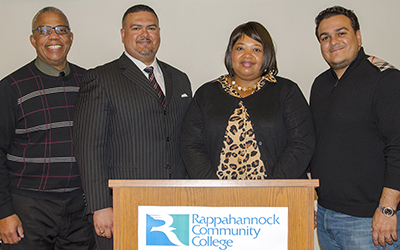 SSS counselor Joseph Coleman; Robert O'Neal; Lorraine Justice, the administrative officer for the SSS program at RCC; and Christopher O'Neal.