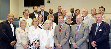 Superintendents from area school systems met at RCC on July 12, 2016