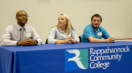 A panel of three top-ranked RCC graduates talked about the difference between high school and college at a recent meeting between RCC administrators and area school officials.