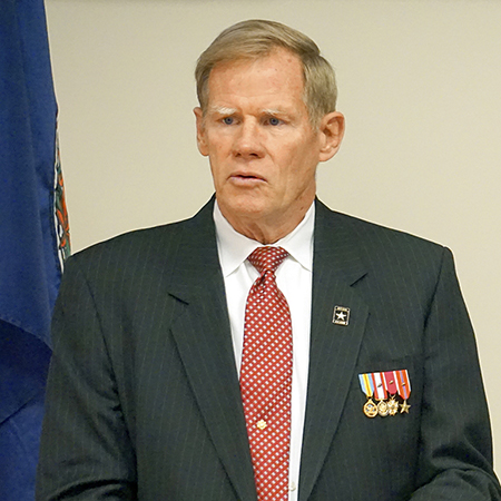 Retired Lieutenant General Carl Ames Strock addressed RCC audiences at a Veterans' Day observance on November 9.