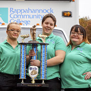 First place judge's award in the Urbanna festival parade for RCC ambulance.