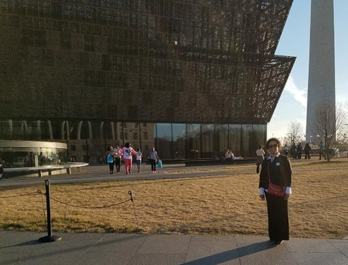 Prof. Leslie Norris at the NMAAHC