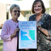 Sue Perry and Ellen Koehler, directors of the RCC PN and ADN Nursing programs