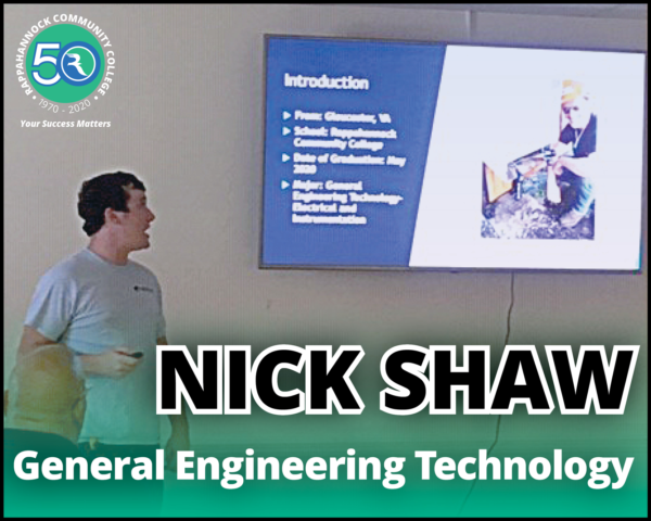 nick shaw, general engineering technology at rappahannock community college