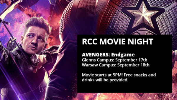 Avengers ENDGAME September 17th and 18th at 5PM