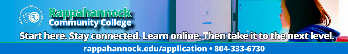learn online at rappahannock community college. call 804-333-6730