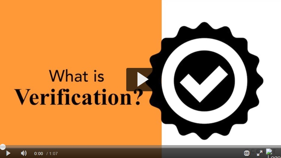 What is Verification? Video